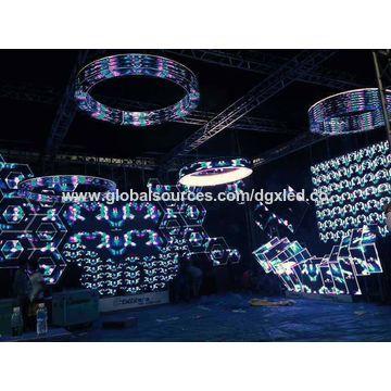 China Round-shaped stage background LED wall