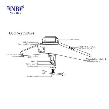 China Digital wire rope tension meter, belt tension meter, wire ...
