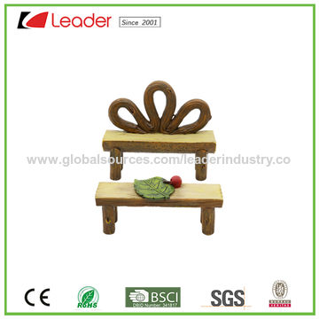 ... China Woodlook Resin Fairy Garden Table and Two Chairs Miniature Fairy Garden Dollhouse Kit ...  sc 1 st  Global Sources & China Woodlook Resin Fairy Garden Table and Two Chairs Miniature ...