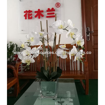 China 25 artificial flowers orchid with led light real touch china 25 artificial flowers orchid with led light real touch white phalaenopsis in mightylinksfo