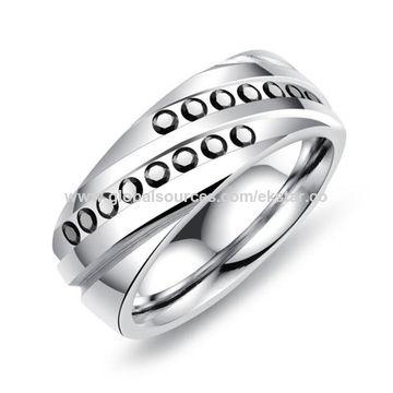 731a78b185e ... China 2018 New Fashion Cool luxury design titanium steel AAA Zircon  rings for Men ...