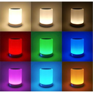 ... China Night Light Table Lamp Bluetooth Speaker,Touch Control Color LED  Outdoor Speaker Light Music ...