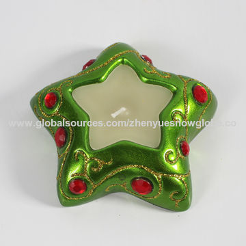 China Cheap star shaped resin candle holders