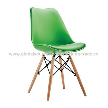 ... China Upholstered Dining Chairs, Beech Wood Leg