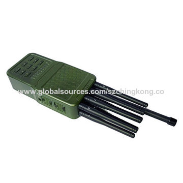 China Handheld Remote Control Signal Jammer, Mobile Phone 4G Jammer Wi-Fi 433 315MHz Jammer 5.6W/up 20m