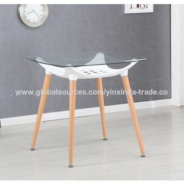 China Top barato del vidrio de la mesa de comedor del precio para la ...