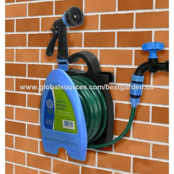 ... China Min hose reel set 10m plastic wall mountain garden hose hanger set ... : hose reel set - www.happyfamilyinstitute.com