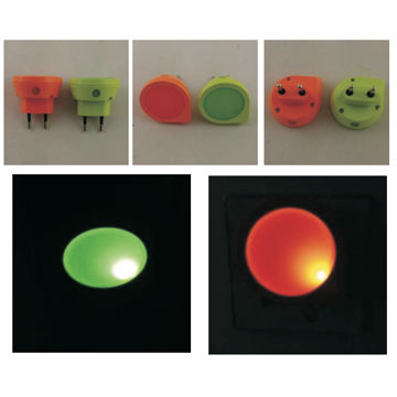 China 1 LED ABS sensor light with plug with red and green color
