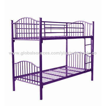 ... China New Model Wrought Iron Steel Double Decker Bed