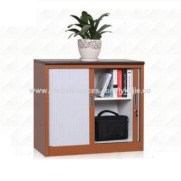 china kd structure half height low 2 tambour door metal filing 2 door metal file cabinet