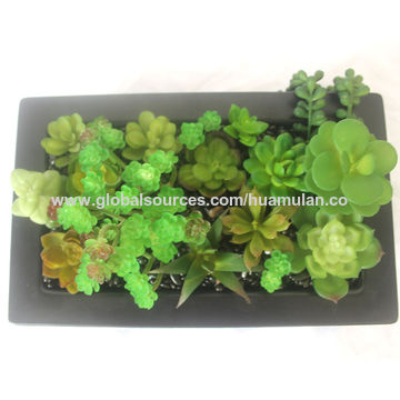 china artificial hanging plants, green artificial succulent plants