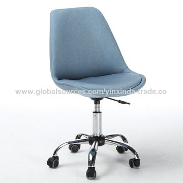 China Fabric Brown Office Chair Chrome Swivel Feet
