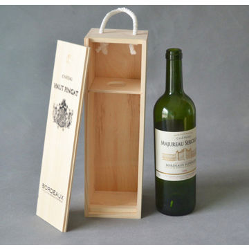 China Single Wooden Wine Gift Boxes Available In Various Colors On