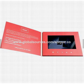 china promotional lcd screen e greeting cards video brochure birthday greetings - E Greeting Cards