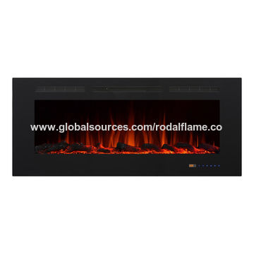 ... China 50 Inch Wall Mounted Electric Fireplace Heater Glass 3D Flame  Effect Remote Control ...