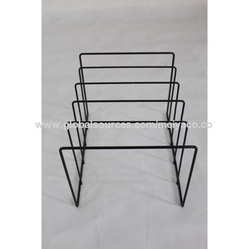 Merveilleux ... China Lightweight Assemblable Metal Wire Tabletop Books Shelf Magazine  Display Rack ...