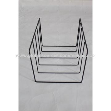 ... China Lightweight Assemblable Metal Wire Tabletop Books Shelf Magazine  Display Rack ...