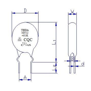 China 10D431K 275V AC MOV Varistor, UL/cUL/VDE Certification, RoHS ...