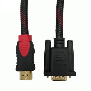 China Gold Male HD-15 15-pin VGA to HDMI Converter M/M Cable 6ft 1.8 ...