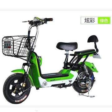 China 48V 350W motor electric bicycle 300-8 tubeless tire e-bike simple leisure electric scooter