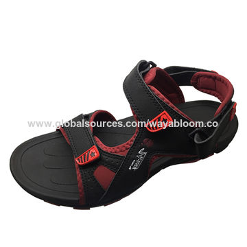 ec6f40696cc32 China Factory price customize pu leather sport beach sandal for men ...