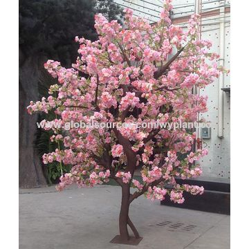 china 4 meters big fiberglass artificial simulation pink cherry