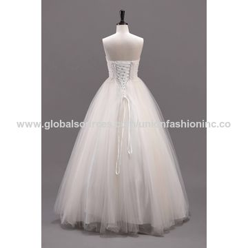 China Sweet ball gown wedding gowns lace applique beadings sweet 16 ...