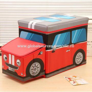 ... used China Kidsu0027 folding toy storage box car shape kidsu0027 ottoman ... & China Kidsu0027 folding toy storage box car shape kidsu0027 ottoman used ...