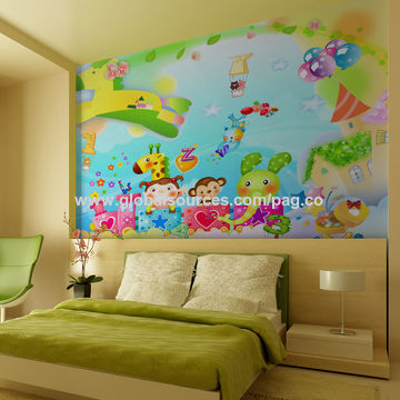 China Cartoon artificial wall decoration/princess castle wall ...