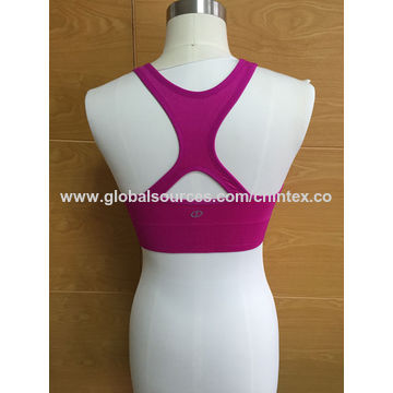 e672baacaaa78 ... China Seamless Sports Bra with Sports Mesh   Inserted Foam Cup   Back  Keyhole