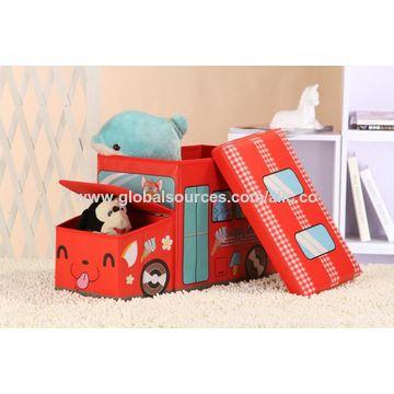 ... Used China Kidsu0027 Folding Toy Storage Box, Car Shape, Kidsu0027 Ottoman, ...