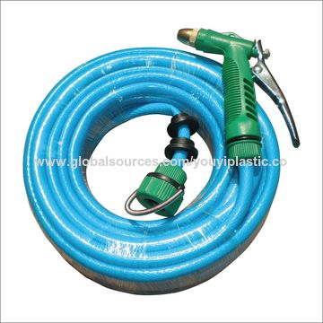 China PVC garden hose with nozzle