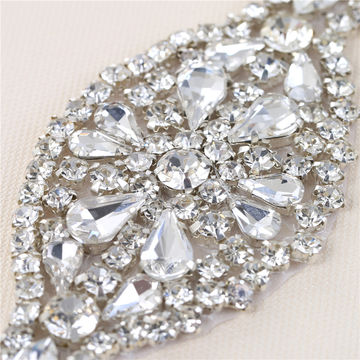 Silver Rhinestone Crystal Applique