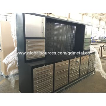 ... China Cheap Stainless Steel Tool Box Cabinet, Used 40 Drawers Storage  Cabinets ...