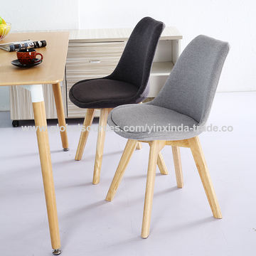 China Fabric Dining Chairs Plastic Chair With Soft Cushion On Custom Patterned Dining Chairs