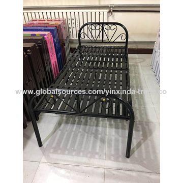 China El marco plegable de la cama, la cama plegable de acero ...