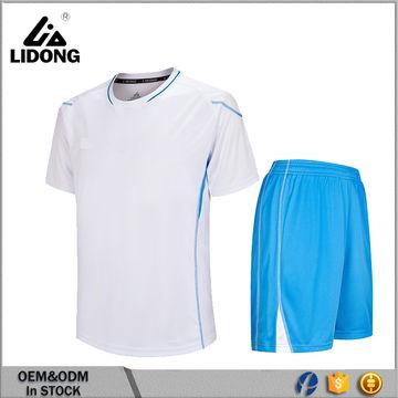 China Sistema en blanco del uniforme del fútbol de la camisa del ...