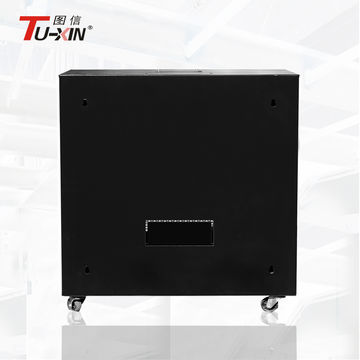 ... China Power Coating Small Server Cabinet With Castor, 9u Rack Cabinet  With Fixed Shelf
