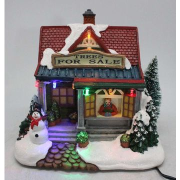 china battery operated christmas village in book home decoration