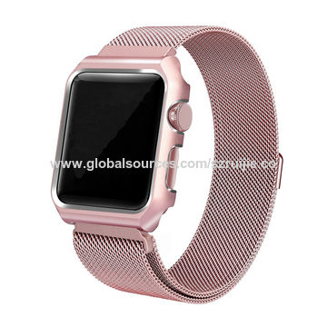 China Milanese Smart Watch Band For Apple Huawei Fitbit Samsung Phone Wristband Bands 4