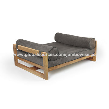 ... China Two Pillow Bamboo Pet Sofas With Washable Pet Cushions ...