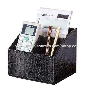 ... China Remote Control Holders/Storage Boxes, Desktop, Leather,  Organizers, From Storage ...