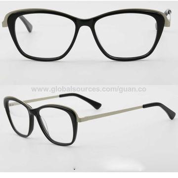 China Ready Made Prescription Optical Frames Acetate Metal Made ...