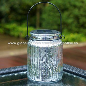 ... China Solar Mercury Glass Jar Hanging Outdoor Light For Garden  Decorations ...