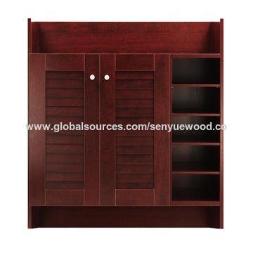 ... China New Model Space Saver Luxury Wood Shoe Cabinet Corner Shoe  Storage Cabinet ...