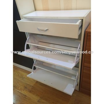 China Wooden Design Shoes Cabinet Shoe Rack Drawer With Doors