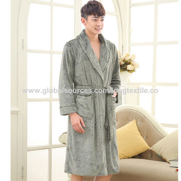... China Double-sided Plush Customized Made Homewear Faux Fur Bathrobes ... 5b2cbffa3