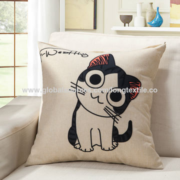 China Canvas 100% cotton sublimation printing cushion cover