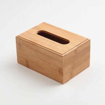 China Cz18069 Bamboo Tissue Box Covers Storage
