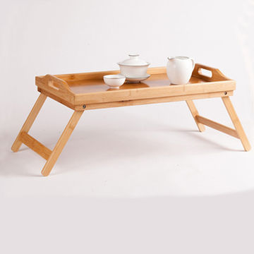 China Cz 18076 Bamboo Serving Tray Rectangle Breakfast With Handle